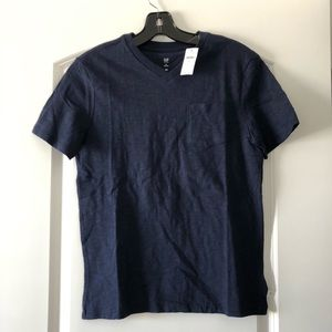 NWT Gap Boys Solid Navy V-Neck T-Shirt